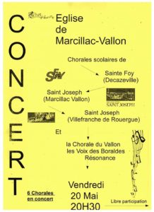 Affiche concert St jo